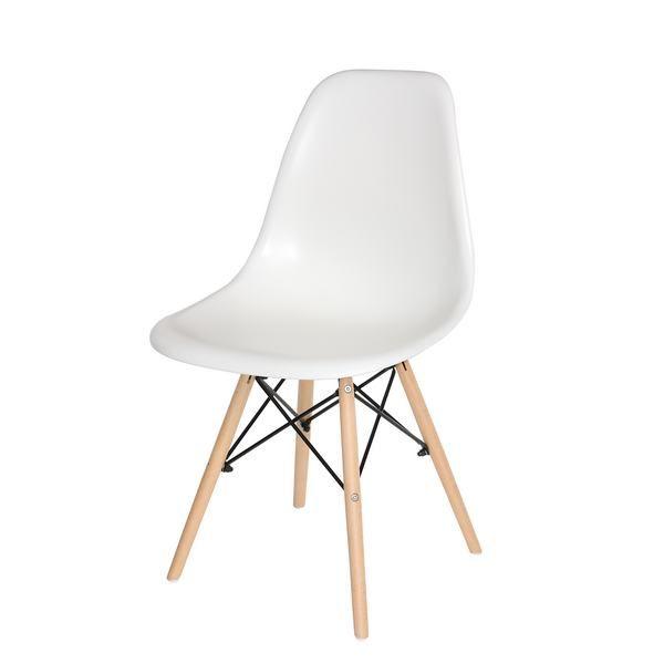 silla diseño eames blanca