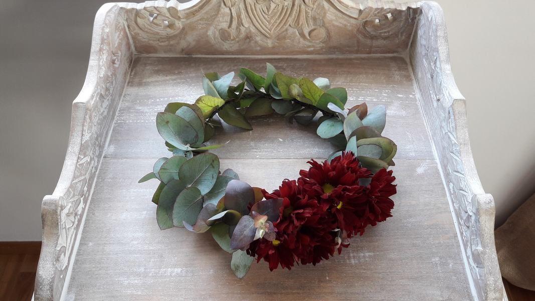 Cómo hacer una corona de flores paso a paso