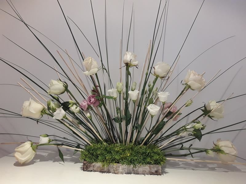 Arreglo Floral Abanico Centro De Flores Frescas