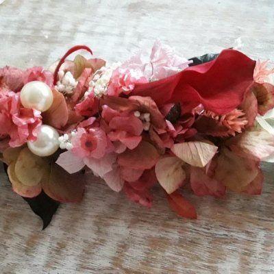 Broche de Flores Preservadas para Boda