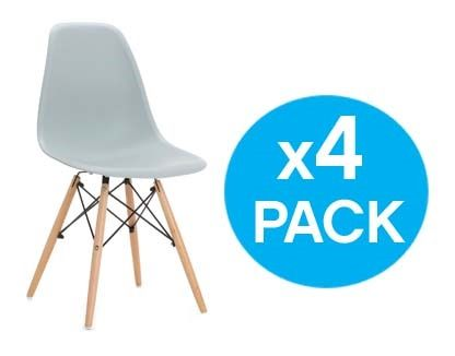 Pack 4 X Sillas diseño inspiracion eames