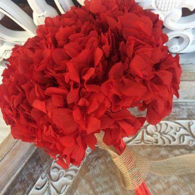 Hortensia Preservada Premium Roja