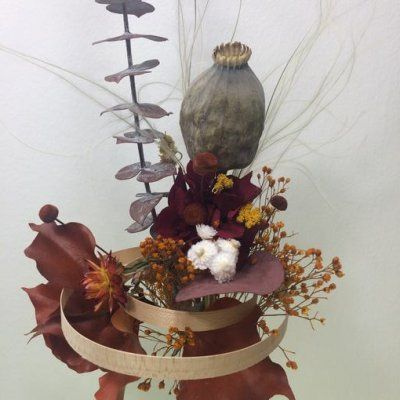 Ramo de flores preservadas con estructura