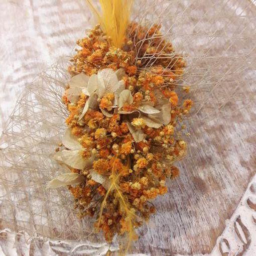 Tocado de flores preservadas Dama